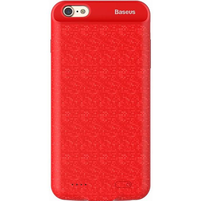 Чехол-аккумулятор Baseus Plaid Backpack Power Bank 2500 mAh для iPhone 7 красныйЧехлы для iPhone 7<br>Стильный и надежный чехол от Baseus обеспечит ваш iPhone 100% защитой и энергией!<br><br>Цвет товара: Красный<br>Материал: Полиуретан, поликарбонат