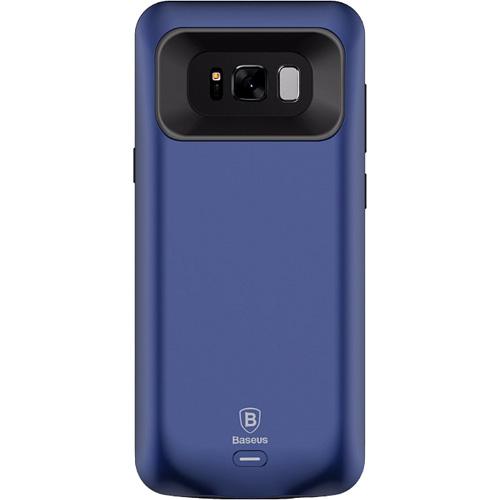 Чехол-аккумулятор Baseus Geshion Backpack Power Bank 5000 mAh для Samsung Galaxy S8 тёмно-синийЧехлы для Samsung Galaxy S8/S8 Plus<br>Тонкий и легкий чехол от Baseus обеспечит ваш Samsung Galaxy S8 100% защитой и энергией!<br><br>Цвет товара: Синий<br>Материал: Поликарбонат, термополиуретан