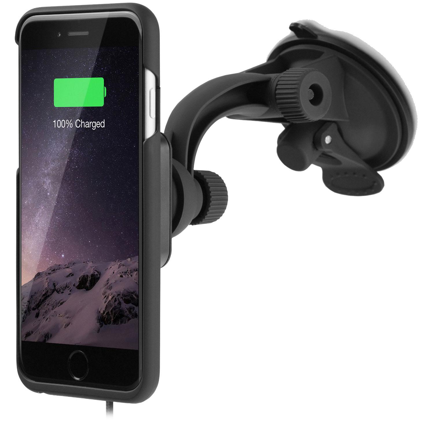 Комплект XVIDA Charging Car Kit (автодержатель с беспроводной зарядкой + чехол) для iPhone 7 Plus от iCases