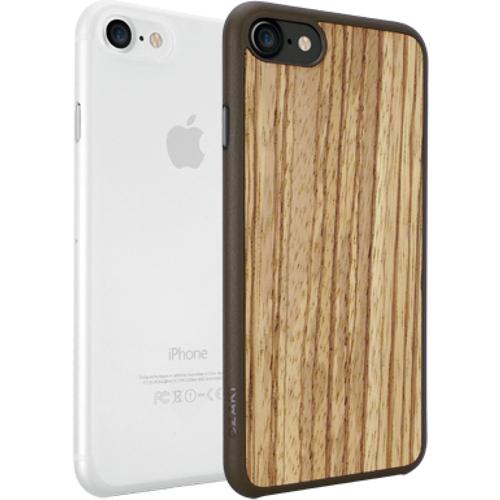 Набор чехлов Ozaki O!coat Jelly+wood 2 in 1 для iPhone 7 (Айфон 7) светлое дерево+прозрачныйЧехлы для iPhone 7<br>Набор чехлов Ozaki O!coat 0.3 Jelly + Ozaki Wood для iPhone 7 - прозрачный/бежево-коричневый<br><br>Цвет товара: Разноцветный<br>Материал: Поликарбонат, полиуретан