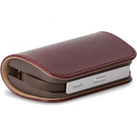 Внешний аккумулятор Moshi IonBank 3KВнешние аккумуляторы<br>Внешний аккумулятор Moshi IonBank 3K бордовый<br><br>Материал: Металл, кожа