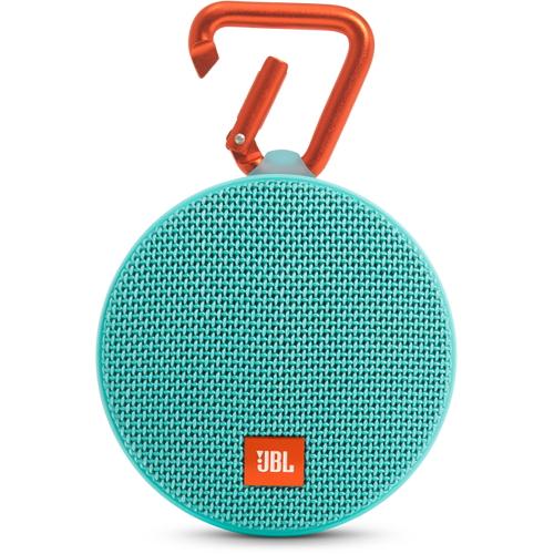 Портативная акустическая система JBL Clip 2 бирюзоваяКолонки и акустика<br>Портативная акустическая система JBL CLIP 2 - бирюзовая<br><br>Цвет: Бирюзовый<br>Материал: Пластик, металл