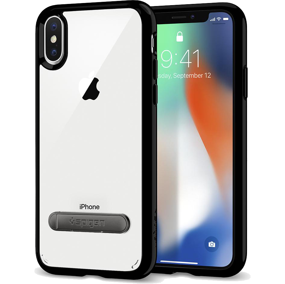 Чехол Spigen Case Ultra Hybrid S для iPhone X чёрный Jet Black (057CS22134)Чехлы для iPhone X<br>Гибридные технологии на страже от неприятностей для вашего iPhone X.<br><br>Цвет товара: Чёрный оникс<br>Материал: Поликарбонат, термопластичный полиуретан