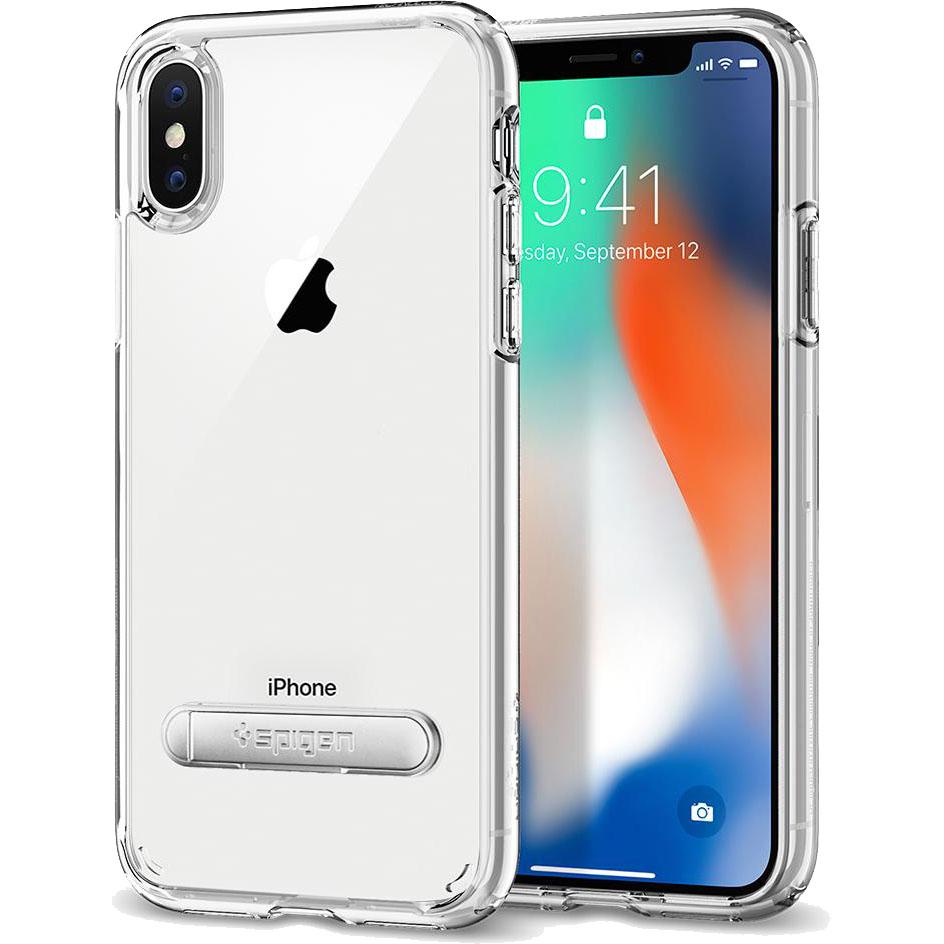 Чехол Spigen Case Ultra Hybrid S для iPhone X кристально-прозрачный (057CS22133)Чехлы для iPhone X<br>Гибридные технологии на страже от неприятностей для вашего iPhone X.<br><br>Цвет товара: Прозрачный<br>Материал: Поликарбонат, термопластичный полиуретан