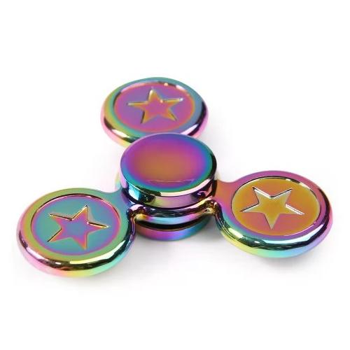 Спиннер Fidget Glory Rainbow Series Звёзды SP4568Игрушки-антистресс<br>Благодаря покрытию «хамелеон» спиннер Fidget Glory захватывает внимание с первой секунды!<br><br>Цвет товара: Разноцветный<br>Материал: Металл