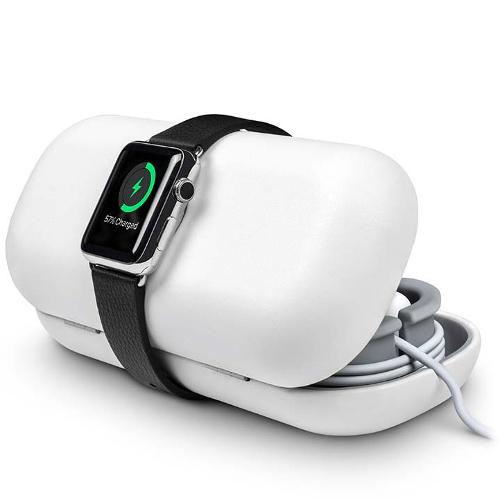 Чехол-футляр TwelveSouth TimePorter для Apple Watch белыйДокстанции Apple Watch<br>Чехол-футляр Twelve South TimePorter для хранения и переноски Apple Watch белый<br><br>Цвет товара: Белый<br>Материал: Пластик, полиуретан