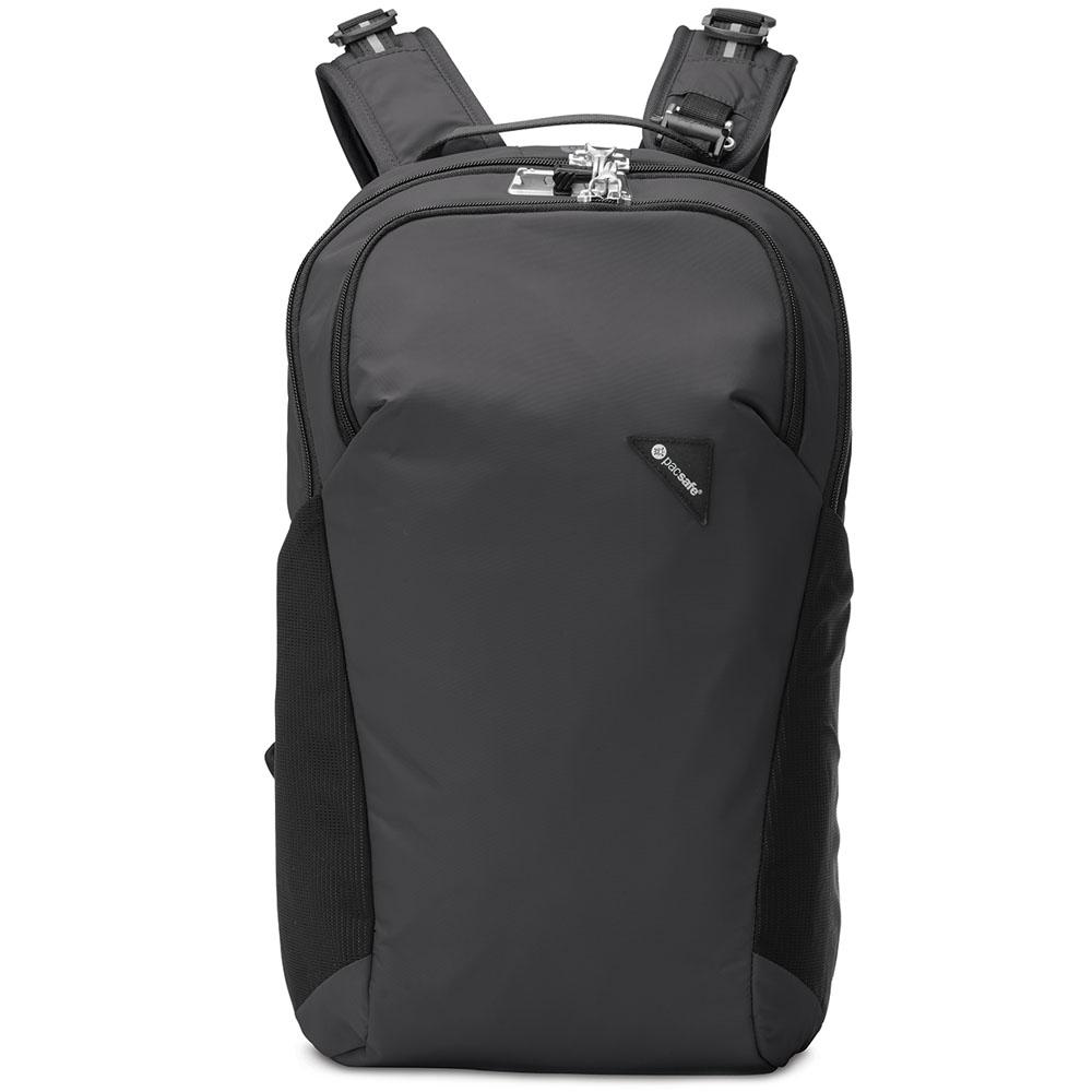 Рюкзак PacSafe Vibe 20 Anti-theft 20L чёрныйРюкзаки<br>PacSafe Vibe 20 Anti-theft - туристический рюкзак, оснащённый защитой от воров.<br><br>Цвет товара: Чёрный<br>Материал: Текстиль, нержавеющая сталь, пластик