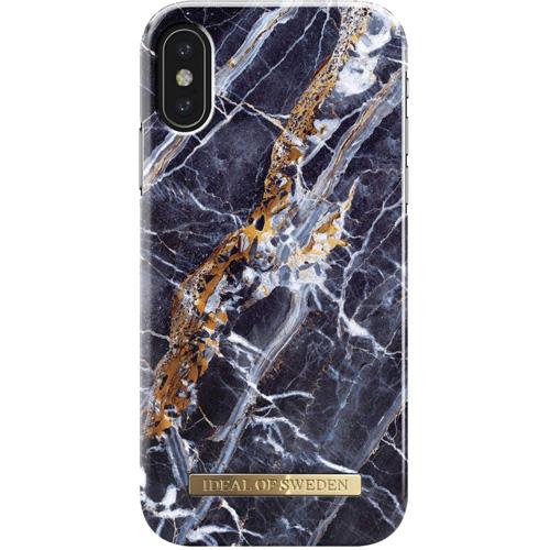 Чехол iDeal of Sweden Fashion Case для iPhone X (Midnight Blue Marble)Чехлы для iPhone X<br>Чехол iDeal of Sweden Fashion Case станет истинным украшением самого лучшего смартфона!<br><br>Цвет товара: Синий<br>Материал: Пластик, замша