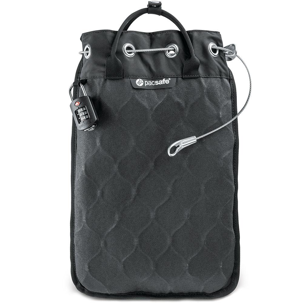 Сумка-сейф PacSafe Travelsafe 5L GII чёрнаяСумки для iPad<br>PacSafe Travelsafe GII - не просто сумка, а настоящий сейф!<br><br>Цвет товара: Чёрный<br>Материал: Текстиль, металл
