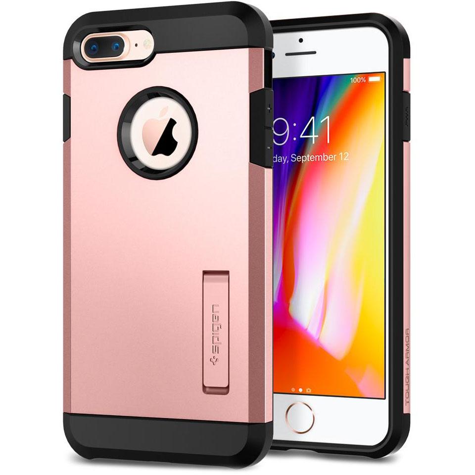 Чехол Spigen Tough Armor 2 для iPhone 8 Plus, iPhone 7 Plus розовое золото (055CS22245)Чехлы для iPhone 7 Plus<br>Spigen Tough Armor 2 — самый надёжный и прочный чехол среди серии Armor.<br><br>Цвет товара: Розовое золото<br>Материал: Поликарбонат, полиуретан