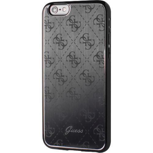 Чехол Guess 4G Aluminium Plate Hard для iPhone 7 (Айфон 7) чёрныйЧехлы для iPhone 7<br>Чехол Guess для iPhone 7 4G Aluminium plate Hard Black<br><br>Цвет товара: Чёрный<br>Материал: Поликарбонат, алюминий