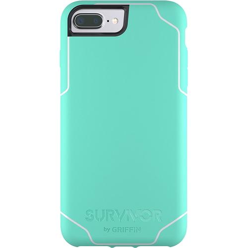 Чехол Griffin Survivor Journey для iPhone 7 Plus (Айфон 7 Плюс) ментоловый/белыйЧехлы для iPhone 7/7 Plus<br>Чехол Griffin Survivor Journey для iPhone 7/6/6s Plus - салатовый/белый<br><br>Цвет товара: Зелёный<br>Материал: Пластик