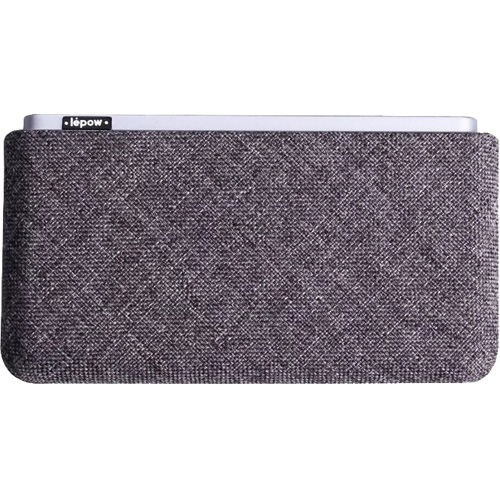Внешний аккумулятор Lepow Retro 10000 мАч серыйДополнительные и внешние аккумуляторы<br>Ёмкости компактного аккумулятора Lepow Retro достаточно, чтобы трижды зарядить аккумулятор iPhone X!<br><br>Цвет: Серый<br>Материал: Металл, текстиль