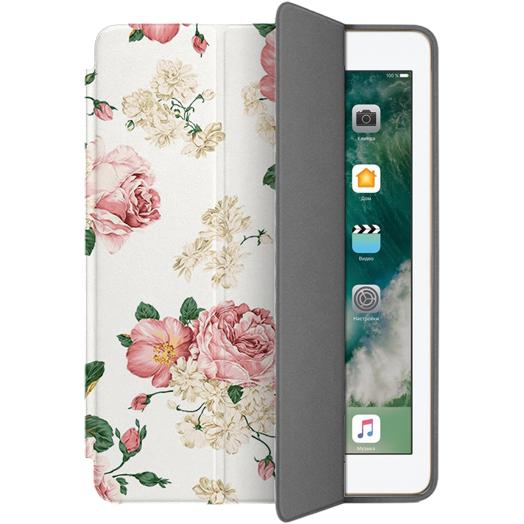 Чехол Muse Smart Case для iPad 9.7 (2017) Цветы 3Чехлы для iPad 9.7 (2017)<br>Чехлы Muse — это индивидуальность, насыщенность красок, ультрасовременные принты и надёжность.<br><br>Цвет товара: Белый<br>Материал: Поликарбонат, полиуретановая кожа