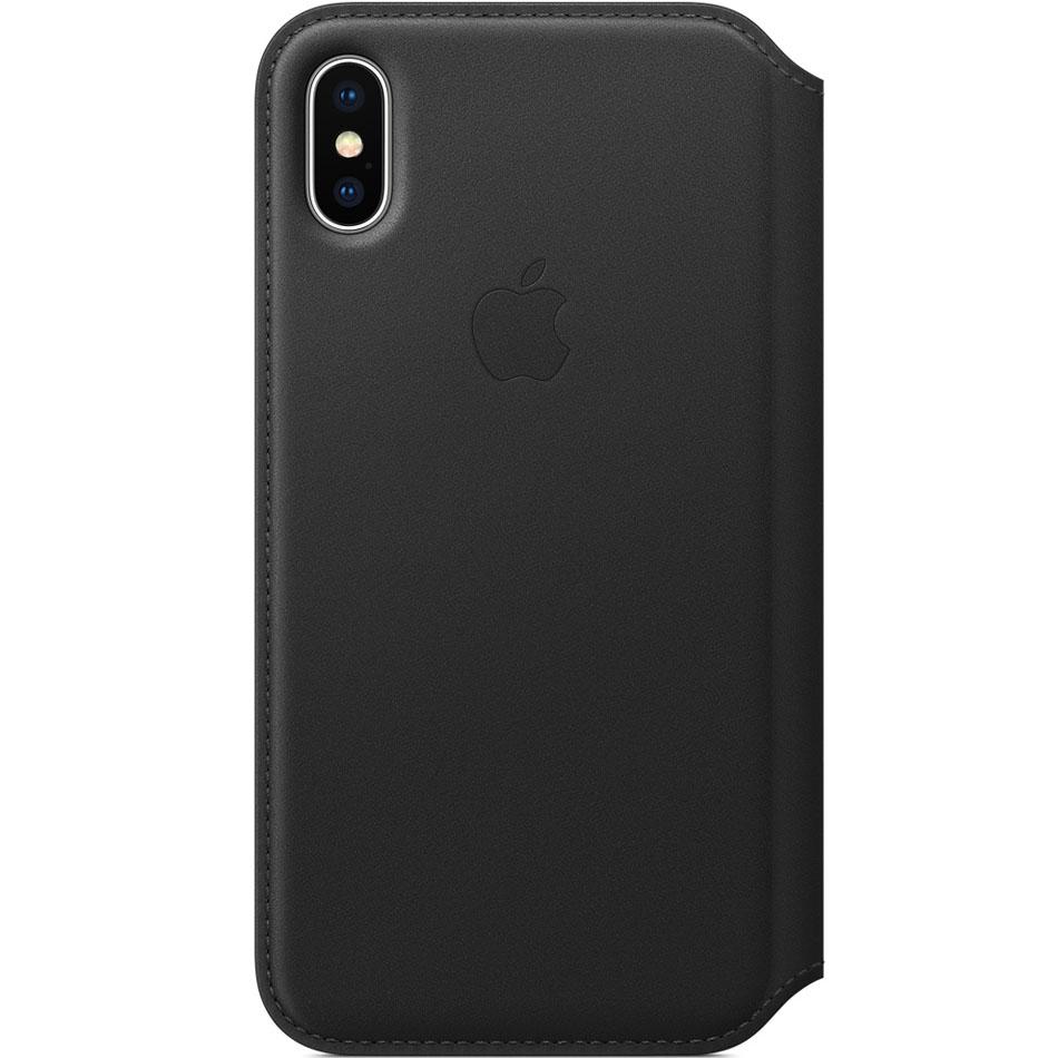 Чехол Apple Leather Folio для iPhone X чёрныйЧехлы для iPhone X<br>Apple Leather Folio — оригинальный и стильный чехол, в котором собрано всё необходимое для каждого!<br><br>Цвет товара: Чёрный<br>Материал: Натуральная кожа, пластик, текстиль