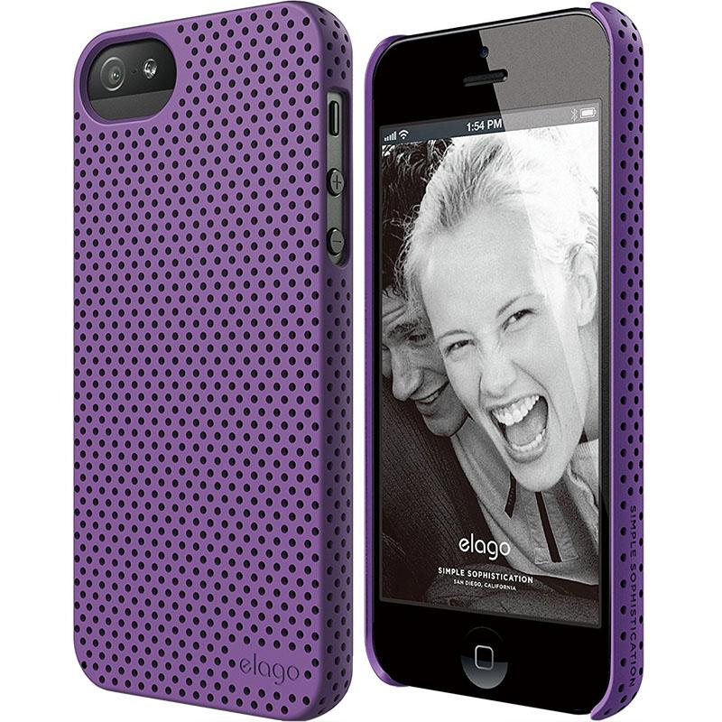 Чехол Elago Breathe Hard PC (perforated) для iPhone 5S/SE фиолетовыйЧехлы для iPhone 5/5S/SE<br>Elago Breathe Hard PC справляется с защитой iPhone на отлично!<br><br>Цвет: Фиолетовый<br>Материал: Поликарбонат, полиуретан