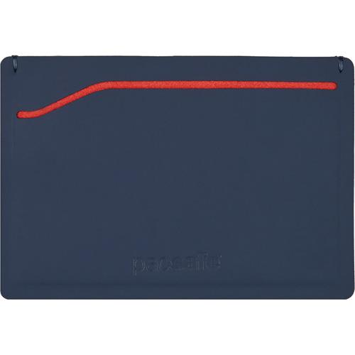 Кошелёк PacSafe RFIDsafe TEC Sleeve Wallet синий/красныйКошельки и портмоне<br>Тонкий и прочный, кошелек PacSafe RFIDsafe TEC Sleeve Wallet будет надежным местом для хранения ваших денег и карт!<br><br>Цвет товара: Синий<br>Материал: Полиуретан, микрофибра, ткань RFIDsafe