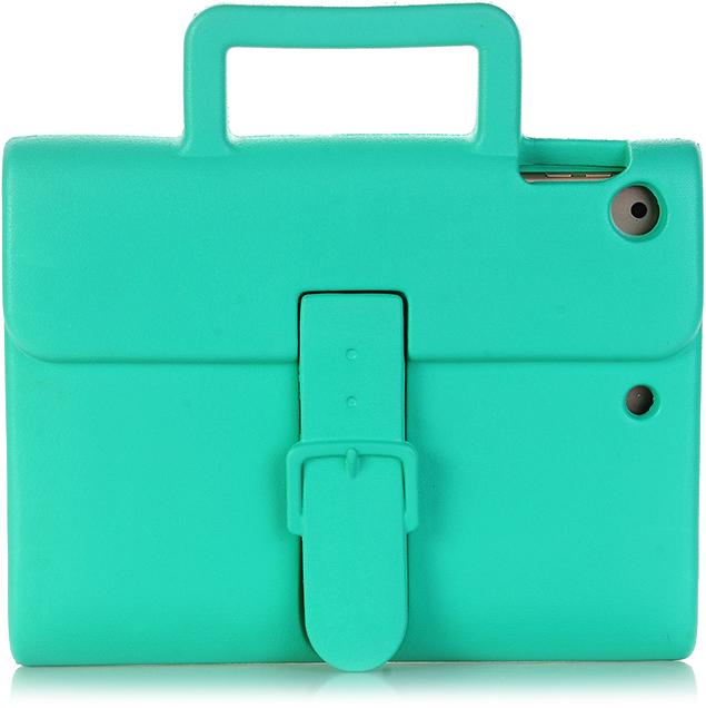 Чехол DoDo Briefcase Kids Shockproof для iPad mini 1/2/3/4 зелёныйЧехлы для iPad mini 1/2/3<br><br><br>Цвет товара: Зелёный<br>Материал: Силикон
