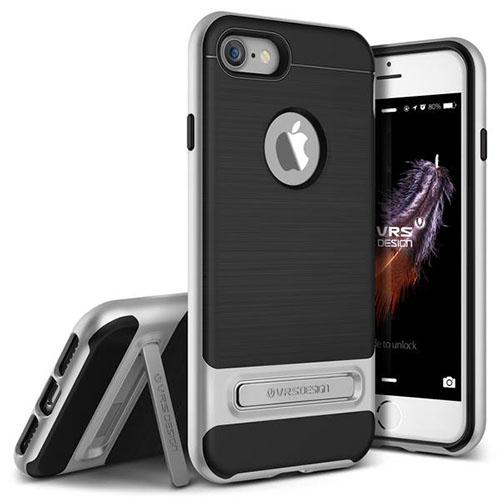 Чехол Verus High Pro Shield для iPhone 7, iPhone 8 серебристый (VRIP7-HPSSS)Чехлы для iPhone 7<br>Чехол Verus для iPhone 7  High Pro Shield, серебристый (904603)<br><br>Цвет: Серебристый<br>Материал: Поликарбонат, полиуретан