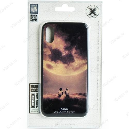 Чехол Remax Painting Series для iPhone X (Под луной)Чехлы для iPhone X<br>Оригинальный чехол Remax, без сомнения, является превосходной комбинацией стиля и надежности!<br><br>Цвет товара: Разноцветный<br>Материал: Пластик