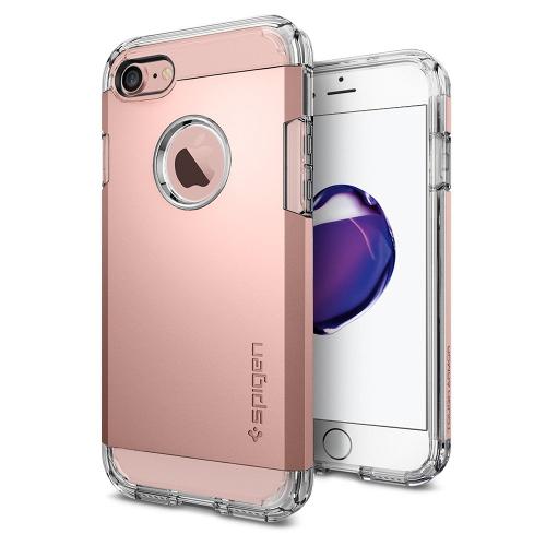 Чехол Spigen Tough Armor для iPhone 7 (Айфон 7) розовое золото (SGP-042CS20492)Чехлы для iPhone 7<br>Обеспокоены безопасностью вашего iPhone 7? С бестселлером от Spigen — чехлом Tough Armor — вам больше никогда не придётся об этом волноваться!<br><br>Цвет товара: Розовое золото<br>Материал: Поликарбонат, полиуретан