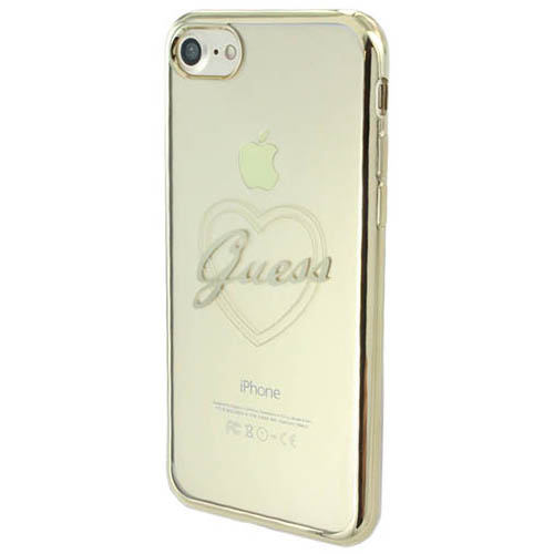 Чехол Guess Signature Heart Hard для iPhone 7 золотистый