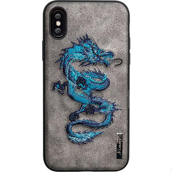 Чехол Nimmy Fantasy Denim для iPhone X (Дракон) серыйЧехлы для iPhone X<br>Чехлы Nimmy Fantasy Denim — это тандем стиля и качества.<br><br>Цвет товара: Серый<br>Материал: Пластик, силикон, текстиль