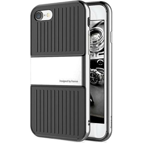 Чехол Baseus Travel Case для iPhone 7 серебристыйЧехлы для iPhone 7<br>Чехол Baseus Travel Case — это два слоя превосходной защиты и стиля для вашего iPhone.<br><br>Цвет товара: Серебристый<br>Материал: Поликарбонат, термопластичный полиуретан