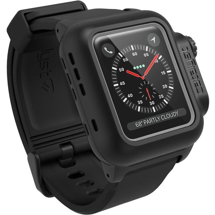 Чехол Catalyst Waterproof для Apple Watch Series 3/2 38 мм чёрныйЧехлы Apple Watch<br>Catalyst Waterproof способен выдержать практические любые неприятности!<br><br>Цвет товара: Чёрный<br>Материал: Пластик, силикон<br>Модификация: 38 мм
