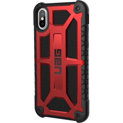 Чехол UAG Monarch Series Case для iPhone X красный CrimsonЧехлы для iPhone X<br>UAG Monarch Series Case — это целых 5 слоёв защиты и особые технологии, позволяющие уберечь ваш iPhone X от самых различных повреждений.<br><br>Цвет товара: Красный<br>Материал: Термопластичный полиуретан, поликарбонат, натуральная кожа, металл
