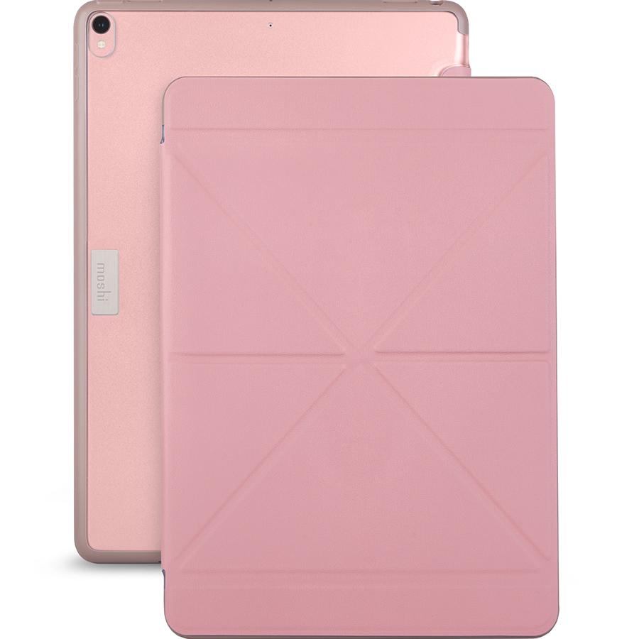 Чехол Moshi VersaCover для iPad Pro 10.5 розовыйЧехлы для iPad Pro 10.5<br>Moshi VersaCover отлично защищает планшет от негативных воздействий.<br><br>Цвет: Розовый<br>Материал: Пластик, полиуретан