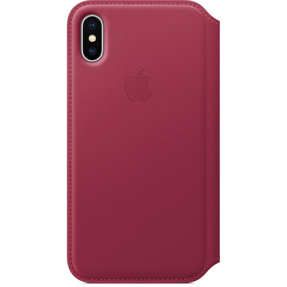 Чехол Apple Leather Folio для iPhone X розовый BerryЧехлы для iPhone X<br>Apple Leather Folio — оригинальный и стильный чехол, в котором собрано всё необходимое для каждого!<br><br>Цвет товара: Розовый<br>Материал: Натуральная кожа, пластик, текстиль