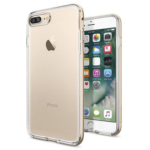 Чехол Spigen Neo Hybrid Crystal для iPhone 7 Plus (Айфон 7 Плюс) золотистый  (SGP-043CS20538)Чехлы для iPhone 7 Plus<br>Чехол Spigen для iPhone 7 Plus Neo Hybrid Crystal шампань (043CS20538)<br><br>Цвет товара: Золотой<br>Материал: Поликарбонат, полиуретан