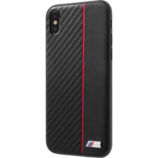 Чехол BMW M-Collection Carbon inspiration Hard для iPhone X чёрный/красныйЧехлы для iPhone X<br>BMW M-Collection Carbon Inspiration словно превращает ваш iPhone X в гоночный автомобиль.<br><br>Цвет товара: Красный<br>Материал: Поликарбонат, эко-кожа (PU)