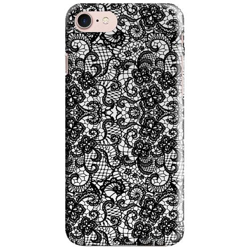 Чехол iPapai для iPhone 7 «Кружева» (Чёрные)Чехлы для iPhone 7<br>Креативный силиконовый чехол iPapai с уникальным дизайнерским принтом для iPhone 7.<br><br>Цвет товара: Чёрный<br>Материал: Силикон