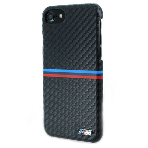 Чехол BMW M-Collection Carbon Inspiration Hard PU для iPhone 7 (Айфон 7) чёрный