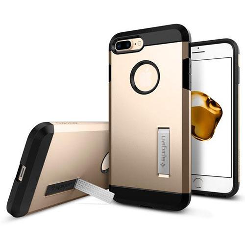 Чехол Spigen Tough Armor для iPhone 7 и 8 Plus шампань (043CS20530)Чехлы для iPhone 7 Plus<br>Обеспокоены безопасностью вашего iPhone 7 Plus? С бестселлером от Spigen — чехлом Tough Armor — вам больше никогда не придётся об этом волноваться!<br><br>Цвет товара: Золотой<br>Материал: Поликарбонат, полиуретан