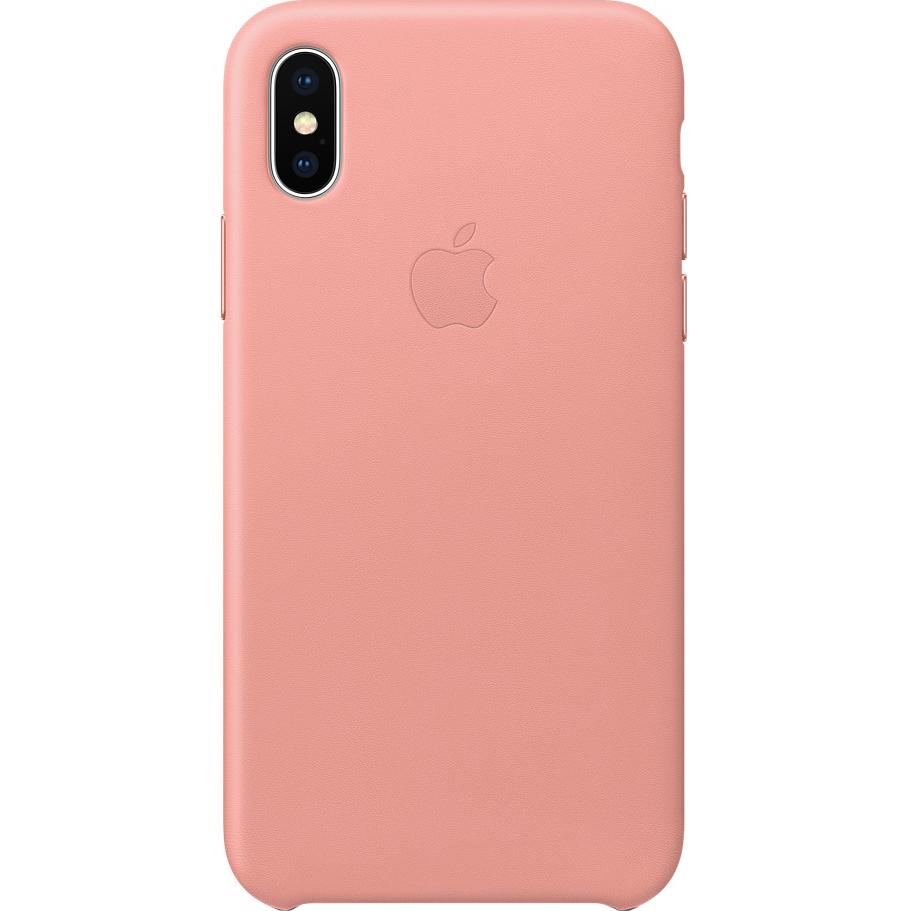 Кожаный чехол Apple Leather Case для iPhone X бледно-розовый (Soft Pink)Чехлы для iPhone X<br>Кожаный чехол от Apple — отличное дополнение к вашему iPhone X.<br><br>Цвет: Розовый<br>Материал: Натуральная кожа