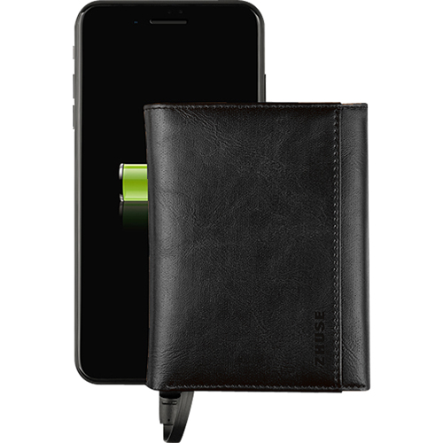 Кошелёк-аккумулятор Zhuse Universe Series Power Bank 4000 мАч чёрныйДополнительные и внешние аккумуляторы<br>Zhuse Universe Series Power Bank — изысканный и функциональный аксессуар.<br><br>Цвет: Чёрный<br>Материал: Пластик, эко-кожа