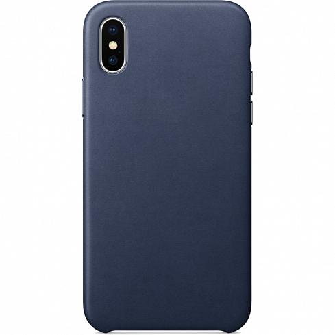 Кожаный чехол YablukCase для iPhone X тёмно-синий (Midnight Blue)Чехлы для iPhone X<br>Надёжный и легкий YablukCase — это лаконичный и стильный аксессуар для вашего iPhone!<br><br>Цвет товара: Синий<br>Материал: Экокожа, пластик