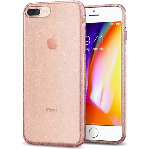 Чехол Spigen Liquid Crystal Glitter для iPhone 8 Plus / 7 Plus розовый кварц (043CS21759)Чехлы для iPhone 7 Plus<br>Spigen Liquid Crystal Glitter — это первый чехол с блеском, который отлично смотрится на iPhone 8 Plus и iPhone 7 Plus!<br><br>Цвет товара: Розовый<br>Материал: Термопластичный полиуретан