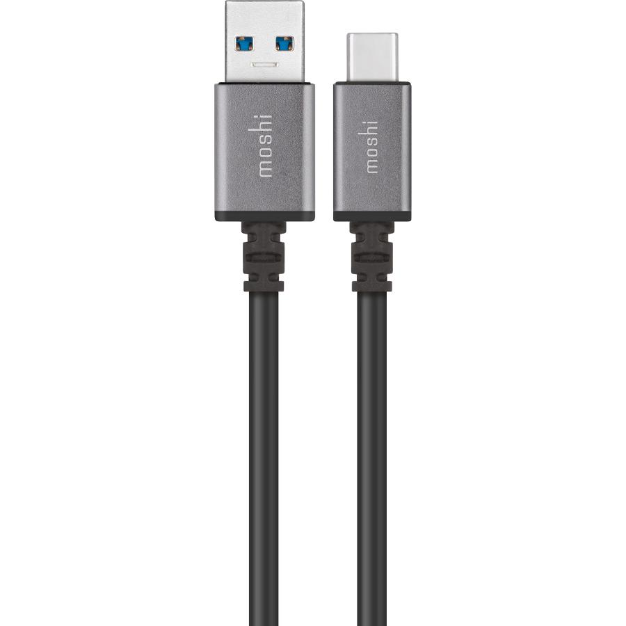 Кабель Moshi USB-C to USB Cable (1 метр) черныйКабели Type-C и другие<br>Кабель Moshi USB-C - функциональный и надёжный кабель для подключения MacBook с портом USB-C к различным устройствам.<br><br>Цвет товара: Чёрный<br>Материал: Алюминий, пластик, текстиль