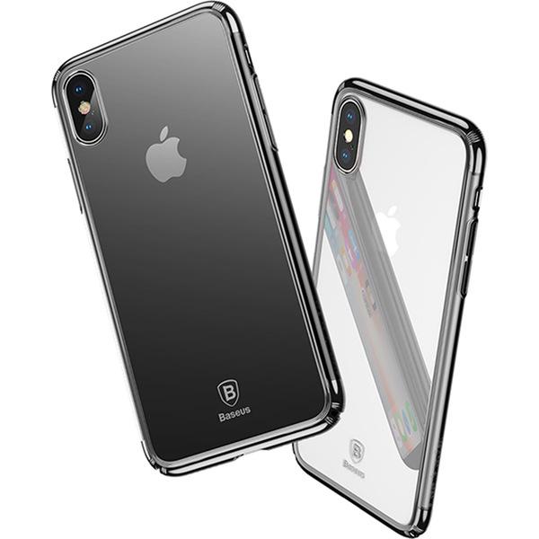 Чехол Baseus Minju Case для iPhone X чёрныйЧехлы для iPhone X<br>Чехол Baseus Case для вашего Айфон создан в лучших традициях компании.<br><br>Цвет товара: Чёрный<br>Материал: Поликарбонат