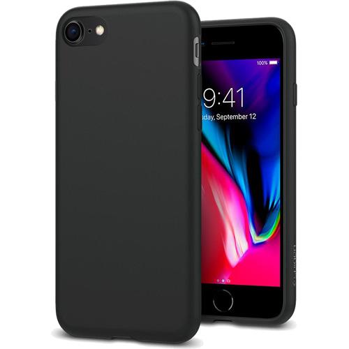 Чехол Spigen Liquid Crystal для iPhone 8/7 чёрный матовый (054CS22204)Чехлы для iPhone 7<br>Гибкий чехол из термопластичного полиуретана ТПУ даёт превосходную амортизацию при любых шоковых нагрузках.<br><br>Цвет товара: Чёрный<br>Материал: Термопластичный полиуретан