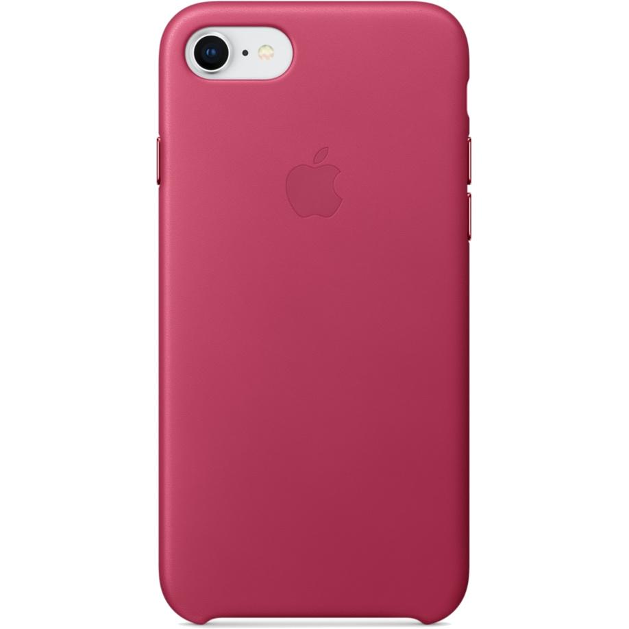 Кожаный чехол Apple Leather Case для iPhone 7/8 розовый (Pink Fuchsia)Чехлы для iPhone 7<br>Ни один чехол в мире не сочетается с мощным Айфон лучше, чем оригинальный Apple Case.<br><br>Цвет: Розовый<br>Материал: Натуральная кожа