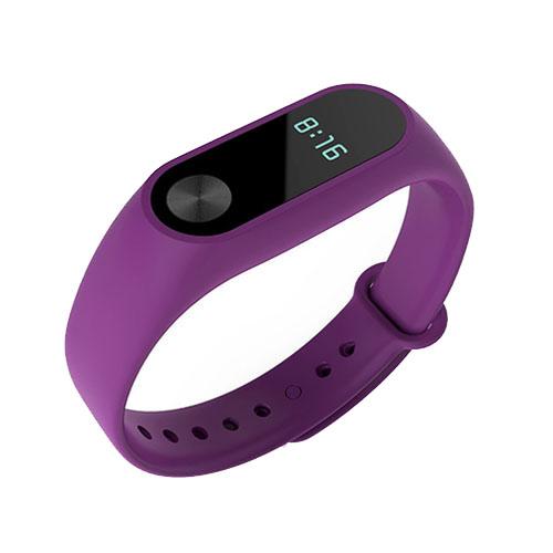 Браслет Xiaomi Mi Band 2 фиолетовыйБраслеты, кардиодатчики<br>В Xiaomi Mi Band 2 используются самые современные и надежные технологии!<br><br>Цвет товара: Фиолетовый<br>Материал: Пластик, силикон