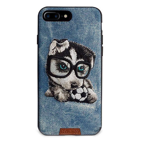 Чехол Nimmy Pet Denim для iPhone 7 Plus Щенок с мячом