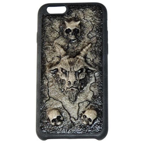 Чехол Evil Dead Козёл и черепа для iPhone 6/6sЧехлы для iPhone 6/6s<br>Чехлы Evil Dead никого не оставят равнодушным!<br><br>Цвет товара: Бежевый