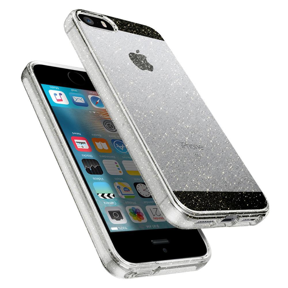 Чехол Spigen Liquid Air Glitter iPhone SE/5s/5 Crystal Quartz (SGP-041CS1959)Чехлы для iPhone 5/5S/SE<br>Spigen Liquid Air Glitter — это тонкий и прозрачный чехол, созданный специально для iPhone!<br><br>Цвет товара: Прозрачный<br>Материал: Термопластичный полиуретан