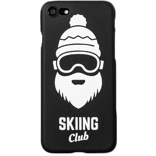 Чехол iPapai «Ski» (Борода) для iPhone 7Чехлы для iPhone 7<br>Стильный и надёжный чехол iPapai с уникальным дизайнерским принтом.<br><br>Цвет товара: Чёрный<br>Материал: Пластик
